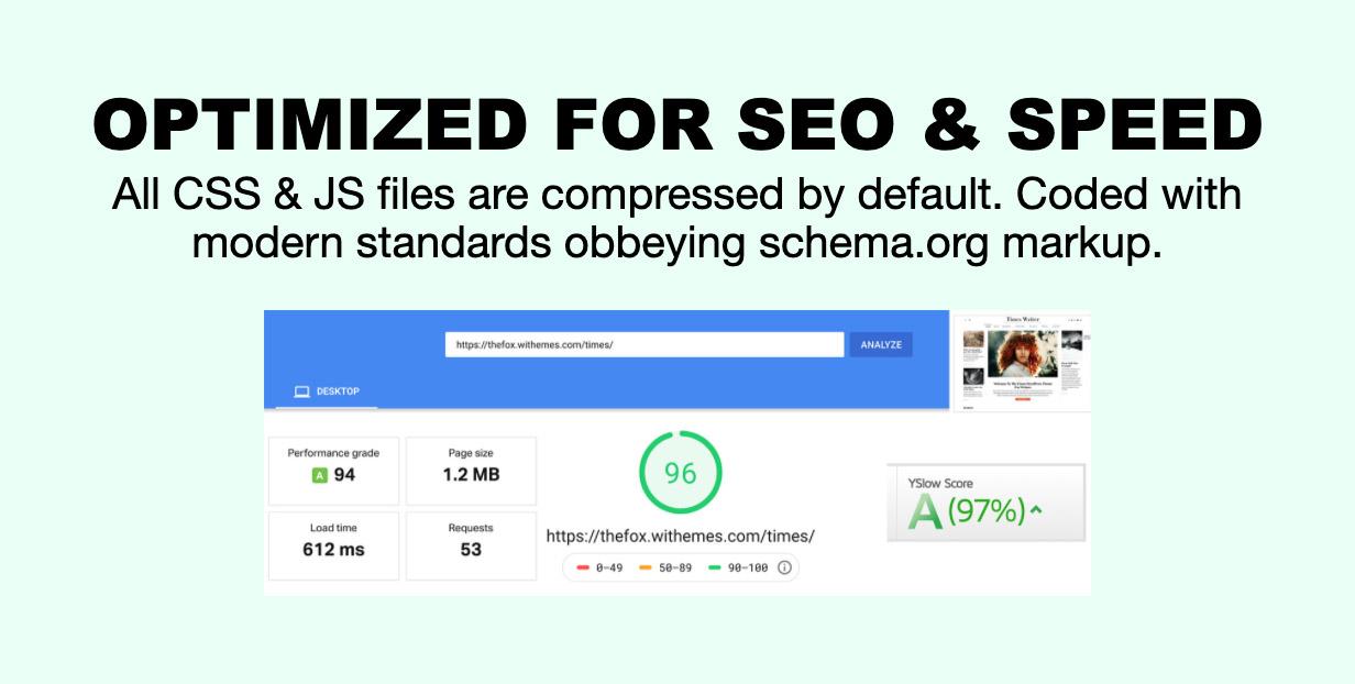 optimized - The Fox - Minimal WordPress Blog Magazine Theme