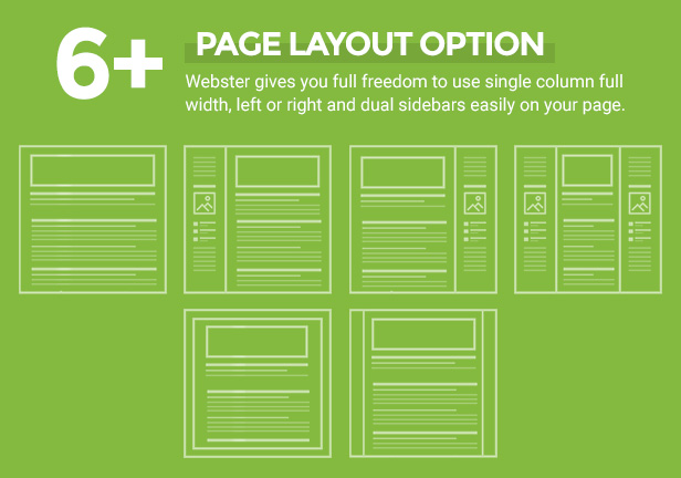page layout option - Webster - Responsive Multi-purpose HTML5 Template