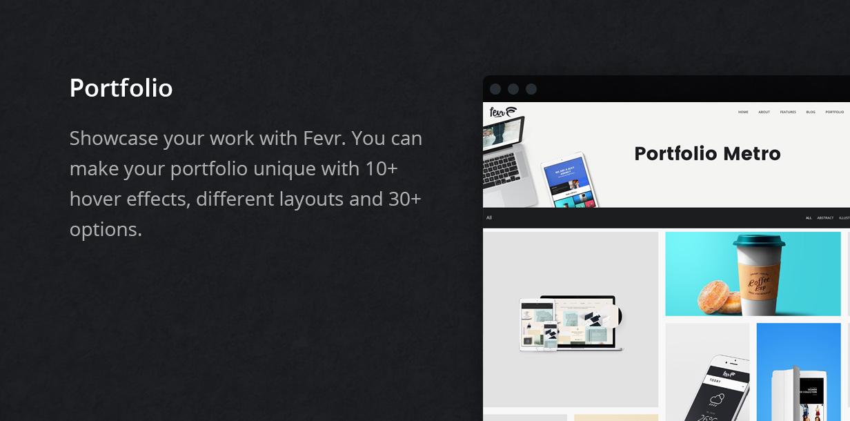 portfolio - Fevr - Creative MultiPurpose Theme