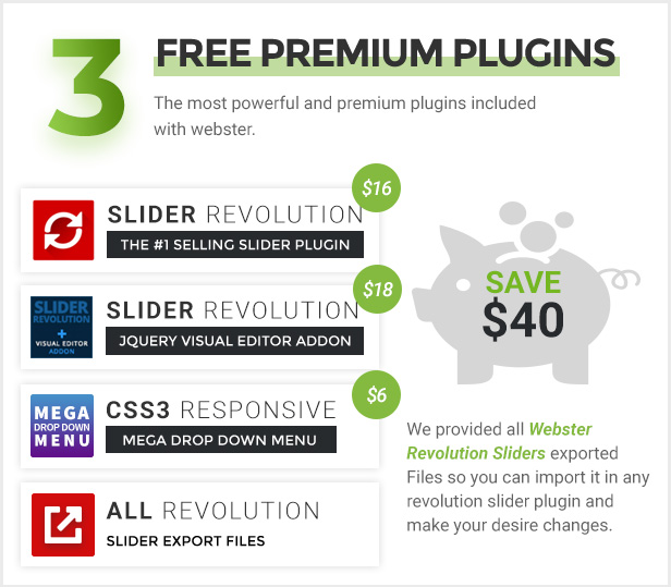 premium plugins - Webster - Responsive Multi-purpose HTML5 Template