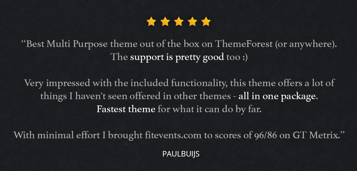 reviews - Fevr - Creative MultiPurpose Theme