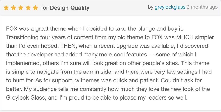 rv5 - The Fox - Minimal WordPress Blog Magazine Theme