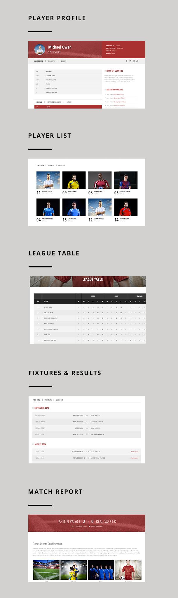 screen 1 - Real Soccer - Sport Clubs WordPress