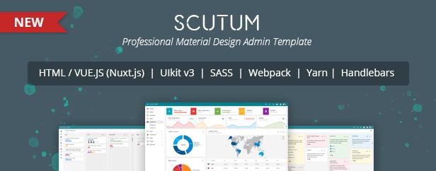scutum promo - Gebo Admin Responsive Template