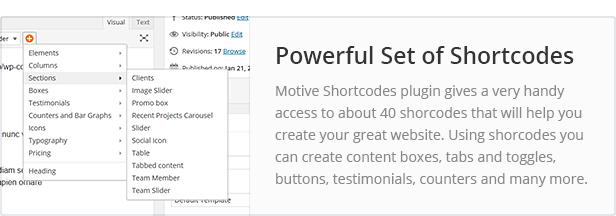 shortcodes - Converio - Responsive Multi-Purpose WordPress Theme