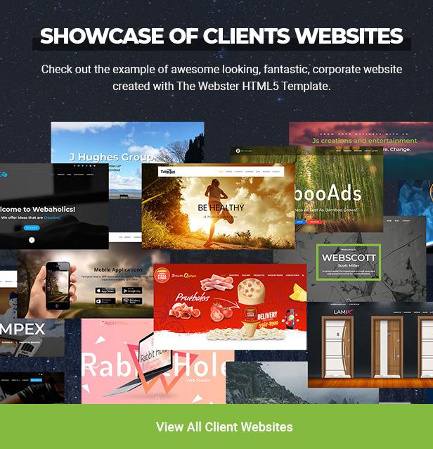 showcase site - Webster - Responsive Multi-purpose HTML5 Template