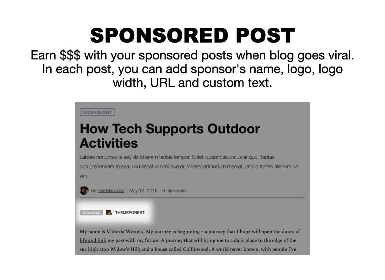 sponsored - The Fox - Minimal WordPress Blog Magazine Theme