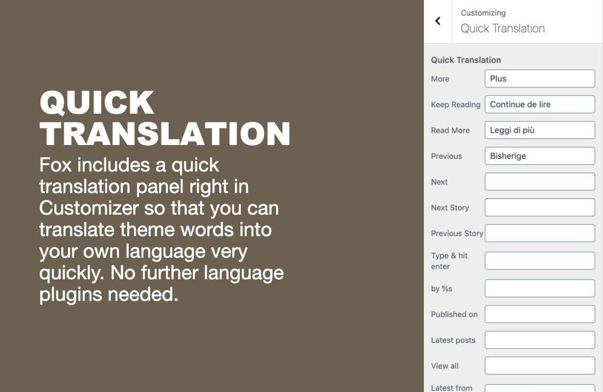 translate - The Fox - Minimal WordPress Blog Magazine Theme