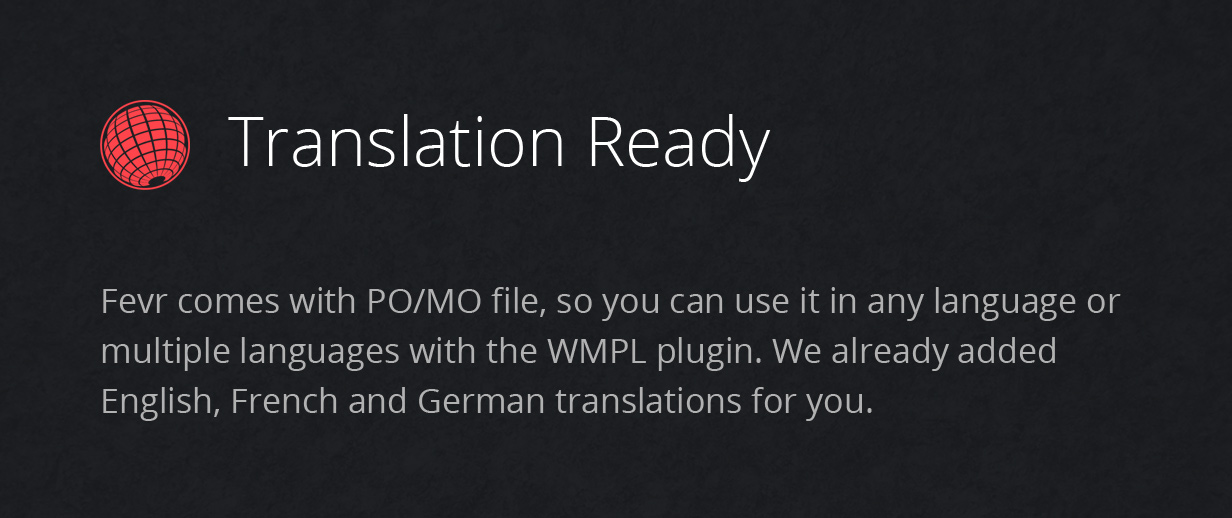 translation ready - Fevr - Creative MultiPurpose Theme