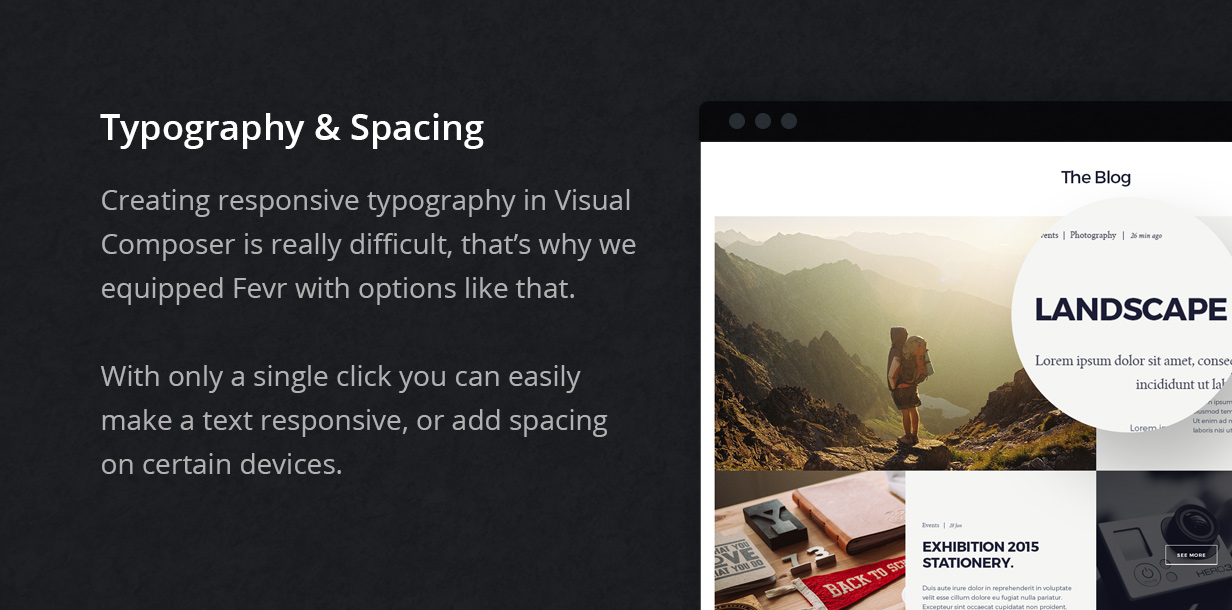 typography spacing - Fevr - Creative MultiPurpose Theme