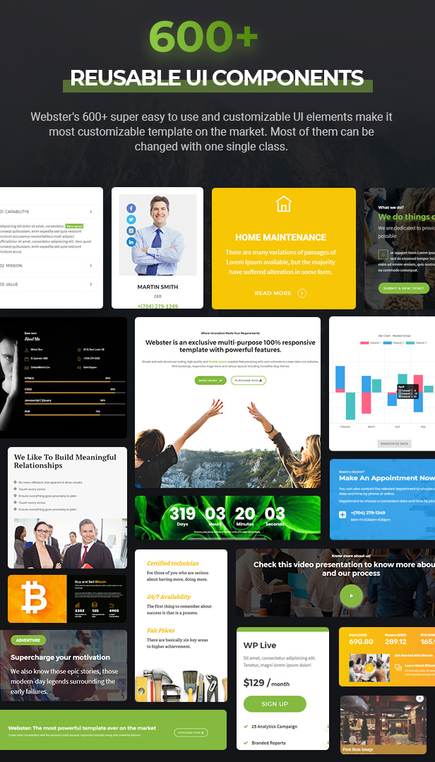 ui components - Webster - Responsive Multi-purpose HTML5 Template