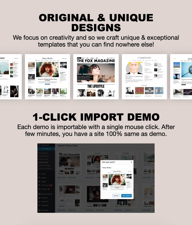 unique - The Fox - Minimal WordPress Blog Magazine Theme
