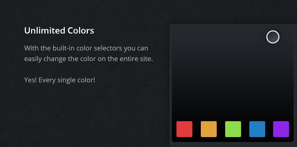 unlimited colors - Fevr - Creative MultiPurpose Theme