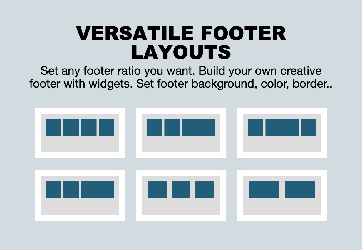 versatile footer - The Fox - Minimal WordPress Blog Magazine Theme