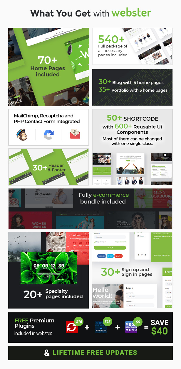 whatyouget3 9 - Webster - Responsive Multi-purpose HTML5 Template
