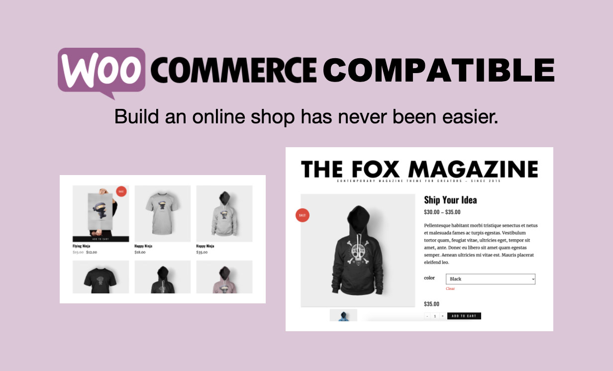 woo - The Fox - Minimal WordPress Blog Magazine Theme