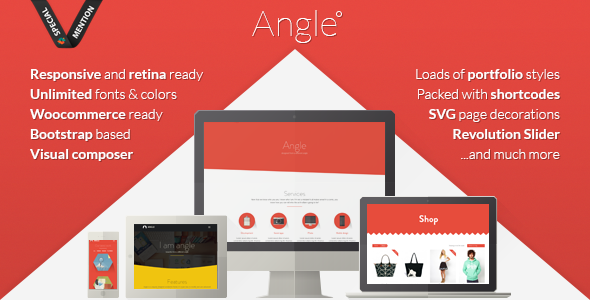 0 promo.  large preview - Angle Flat Responsive Bootstrap MultiPurpose Theme