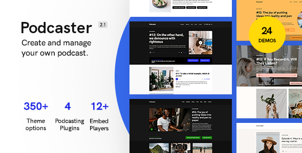 0001 podcaster banner.  large preview - Podcaster - Multimedia WordPress Theme