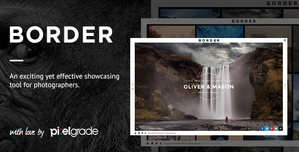 00 Border Teaser.  large preview - BORDER - A Delightful Photography WordPress Theme