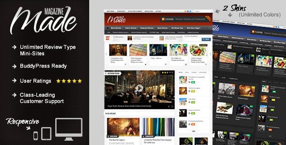 01.  large preview - Made - Responsive Review/Magazine Theme