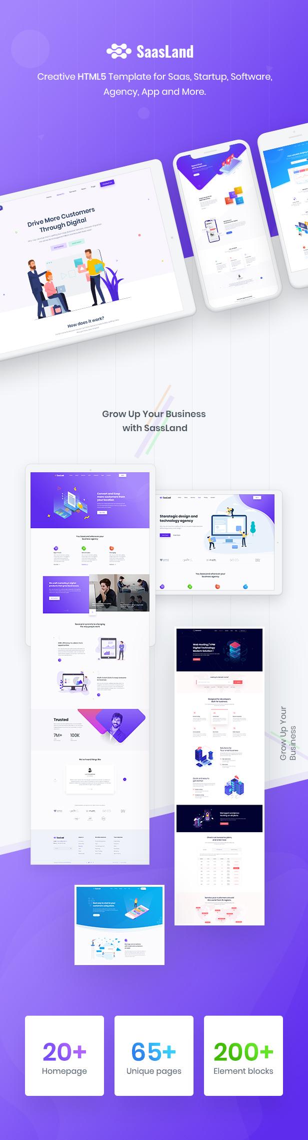 01 2 - SaasLand - Creative HTML5 Template for Saas, Startup & Agency
