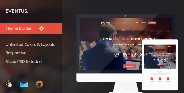 01 largepreview.  large preview - Eventus - Event/Conference Email Template