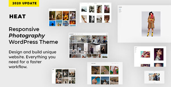 01 theme preview.  large preview - Heat - Responsive Photography WordPress Theme