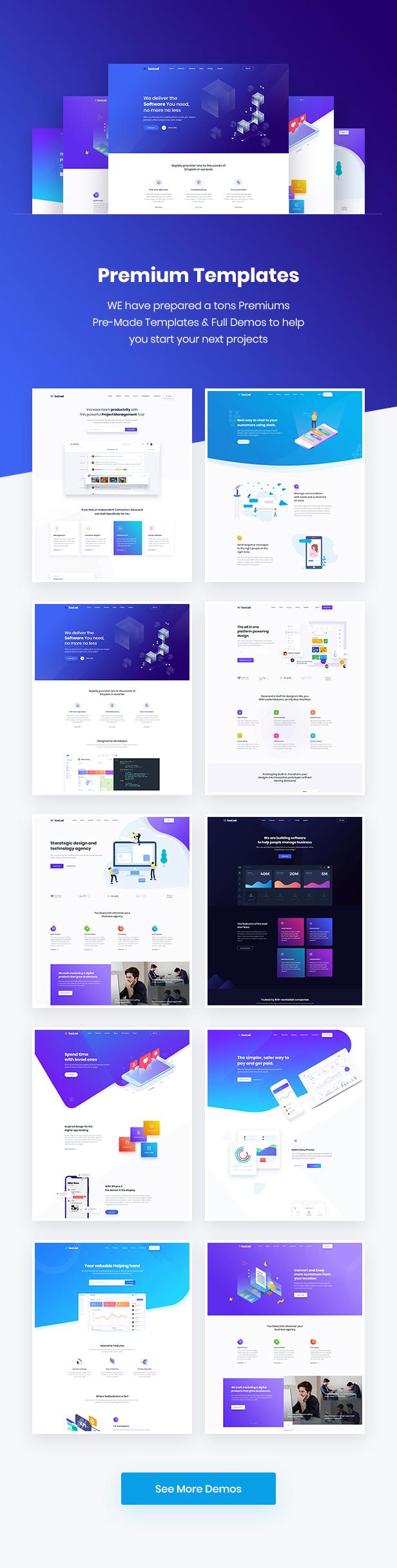 02 - SaasLand - Creative HTML5 Template for Saas, Startup & Agency