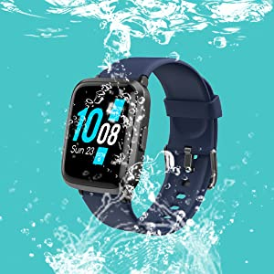02e55af4 ec3a 4cbd 827f 494179e5b6ad.  CR0,0,500,500 PT0 SX300 V1    - YAMAY Smart Watch, Watches for Men Women Fitness Tracker Blood Pressure Monitor Blood Oxygen Meter Heart Rate Monitor IP68 Waterproof, Smartwatch Compatible with iPhone Samsung Android Phones (Black)