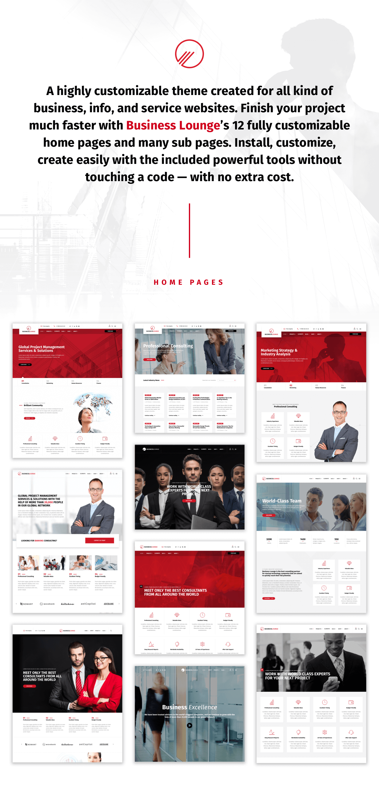 1 - Business Lounge | Multi-Purpose Consulting & Finance Theme