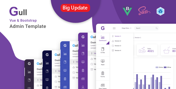 1618870999 328 01 preview.  large preview - Gull -  HTML & Vuejs Admin Dashboard Template