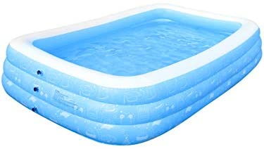 "1619382140 31hHJuxsXJL. AC  - Large Inflatable Pool, Inflatable Swimming Pools 118"" x 73"" x 20"" Kiddie Pool Blow Up Pool Family Swimming Pool for Kids, Adults, Babies, Toddlers, Outdoor, Garden, Backyard"