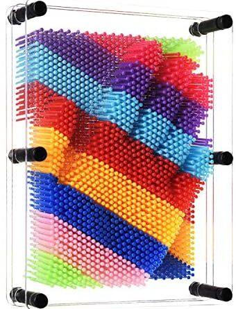 1619598402 51oWvhl4JfL. AC  340x445 - ENJSD 3D Pin Art Toy, Unique Plastic Pin Art Board for Kids,Inspire Imagination & Challenge Sense, Innovative Boundless Creativity for Children (Multicolor)