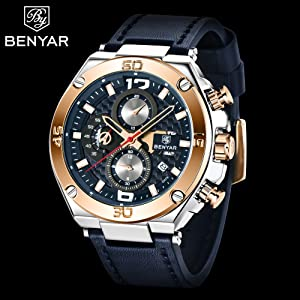 22c0d408 15ed 4b27 a0ae f9d9be117f74.  CR0,0,2000,2000 PT0 SX300 V1    - BENYAR Men Watch Quartz Chronograph Date 3ATM Waterproof Watches Business Sport Design Leather Strap Wrist Watch for Men Father