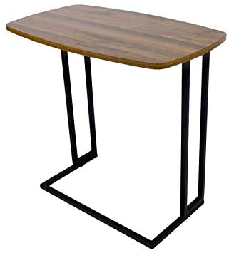31+UadSImgL. AC  - Modern Side Table, Moncot Mobile C Shaped End Table with Detachable Casters, Wood Top Walnut Rectangle TV Trays, Couch Table for Living Room, Bed Room and Home Office, ET220B-WN