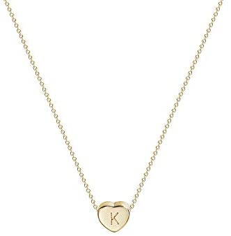 315IKY+eDTL. AC  - Tiny Gold Initial Heart Necklace-14K Gold Filled Handmade Dainty Personalized Letter Heart Choker Necklace Gift for Women Necklace Jewelry