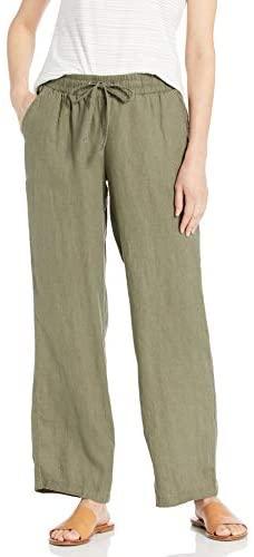 31D 3uhSXYL. AC  - Amazon Essentials Women's Drawstring Linen Wide Leg Pant