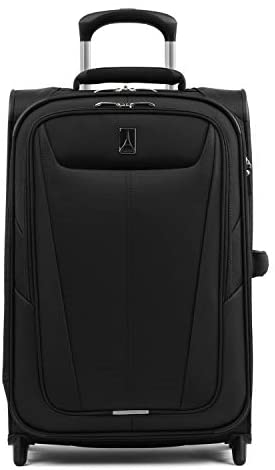31ZmWjMWLcL. AC  - Travelpro Maxlite 5-Softside Lightweight Expandable Upright Luggage, Black, Carry-On 22-Inch