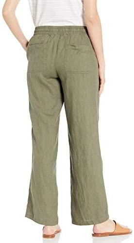 31f8zNmzGNL. AC  - Amazon Essentials Women's Drawstring Linen Wide Leg Pant