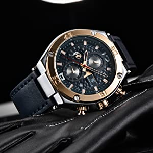3928e83d 9391 4f77 af02 57dd05c1cd1b.  CR0,0,1333,1333 PT0 SX300 V1    - BENYAR Men Watch Quartz Chronograph Date 3ATM Waterproof Watches Business Sport Design Leather Strap Wrist Watch for Men Father