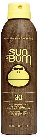 417jEn yA7L. AC  - Sun Bum Original Sunscreen Spray | Vegan and Reef Friendly (Octinoxate & Oxybenzone Free) Broad Spectrum Moisturizing UVA/UVB Sunscreen with Vitamin E | 6 oz