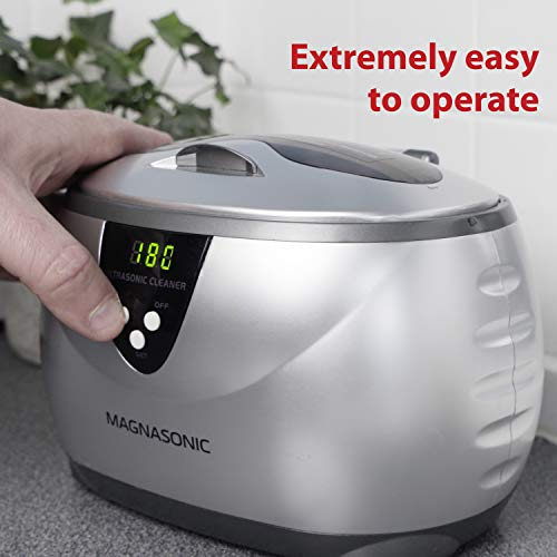 419tMd J3pL - Magnasonic Professional Ultrasonic Jewelry Cleaner with Digital Timer for Eyeglasses, Rings, Coins (MGUC500)