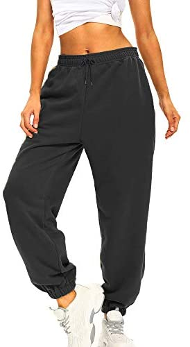 41RK+HKN9pL. AC  - Ausook Womens Sweatpants for Women Sweatpants Sweat Pants Joggers for Women High Waist Lounge Jogger Pants for Women Pockets