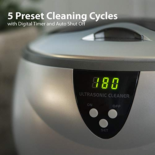 41WsL1MJjFL - Magnasonic Professional Ultrasonic Jewelry Cleaner with Digital Timer for Eyeglasses, Rings, Coins (MGUC500)