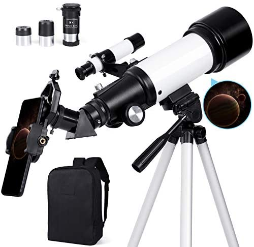 41dbrn0aOlL. AC  - Deesoo Telescopes for Adults Kids - Portable Telescope FMC Lens with Adjustable Tripod Backpack Phone Holder for Moon Viewing - 70mm Aperture 400mm Refractor Telescope for Beginners