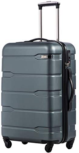 """41hYzehoZ L. AC  - Coolife Luggage Expandable(only 28"""") Suitcase PC+ABS Spinner Built-In TSA lock 20in 24in 28in Carry on"""