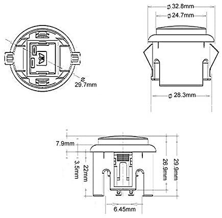 41iEX9bZxxL. AC  - EG STARTS 10x Arcade 30mm Push Buttons Switch Multicade for Arcade PC Games Mame Jamma KOF Arcade Pinball Machine Parts & Accessories
