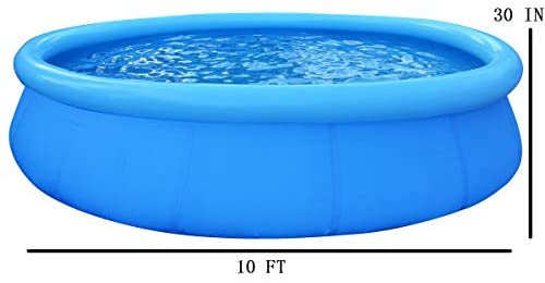 41kYAnkhxfL. AC  - EPROSMIN Inflatable Swimming Pool for Adults - 10 Ft x 30 in Large Inflatable Pool with Air Pump for Kids Suitable for Backyard Garden Patio Summer Water Play Party Outdoor
