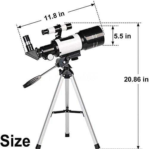 41lo+A2XfZL. AC  - Telescope for Kids &Adults &Beginners,70mm Aperture 300mm AZ Mount, Fully Multi-Coated Optics, Portable Astronomy Refractor Telescope with an Adjustable Tripod, A Phone Adapter