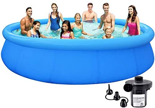 41nN9V9qkXL. AC  - EPROSMIN Inflatable Swimming Pool for Adults - 10 Ft x 30 in Large Inflatable Pool with Air Pump for Kids Suitable for Backyard Garden Patio Summer Water Play Party Outdoor